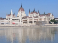 The Budapest Air Show In Front Of The Hungarian Parliament