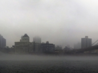 Foggy Brooklyn Skyline - Nyc