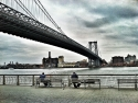 Fishermen Under Williamsburg Bridge