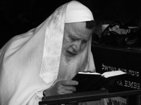 Religious Jewish Man In Prayer