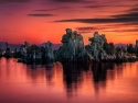 Red Dawn At Mono Lake.