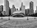 Cloud Gate In B&w