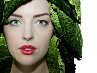 Woman In Cabbage