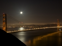 Golden Gate & Moon