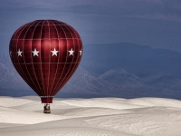Balloon Over White Sands