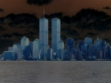 Nyc Twin Towers Solarized