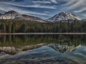 Mt. Lassen And Chaos Crags Reflection