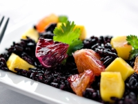 Blood Orange And Mango Salad With Forbidden Black Rice