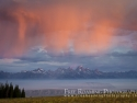 Rain Shower Over The Tetons