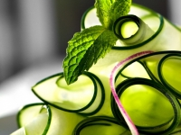 Cucumber Ribbon Salad With Mint