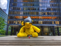 Seagram Building With Urs Fischer Teddy Bear - Midtown East, Manhattan