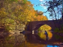 Flyfishing On The Wissihickon, Philadelphia, Pa
