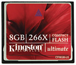 Kingston CompactFlash Ultimate memory cards