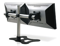 Visidec Freestanding Double Horizontal LCD mounting device