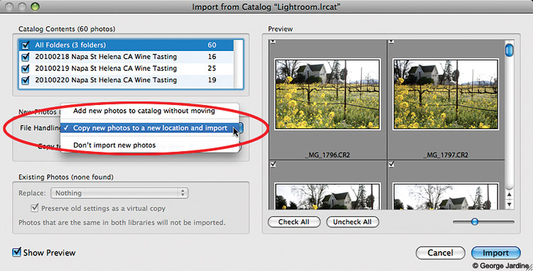 how to copy photos library to external hard drive