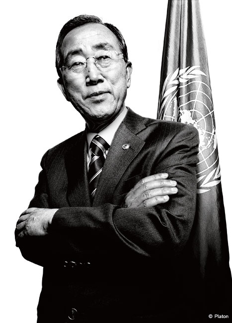 United Nations Secretary-General Ban Ki-moon - platon photography