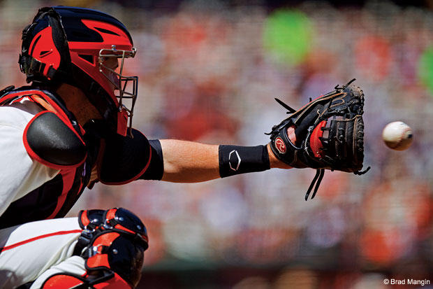 Buster Posey by Brad Mangin