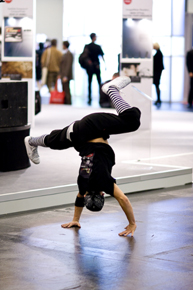 Dancer performing at the SanDisk exhibit