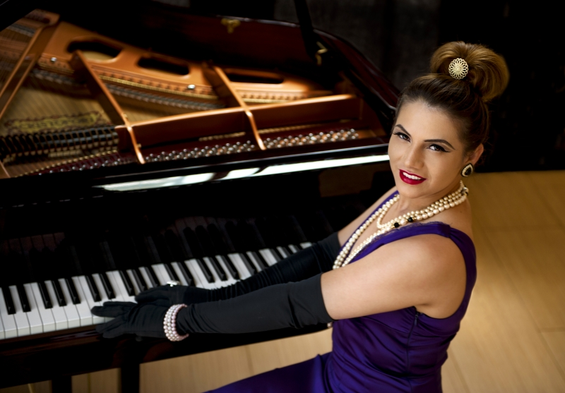 Lady And Grand Piano