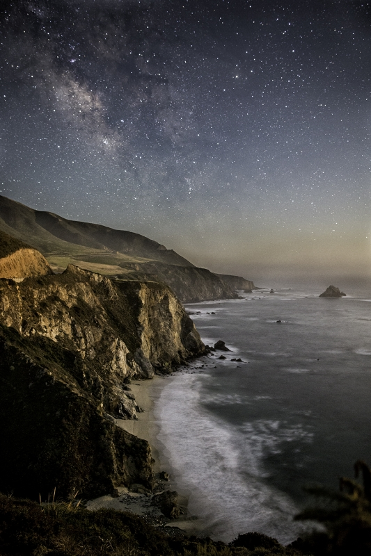 Big Sur In The Moonlight