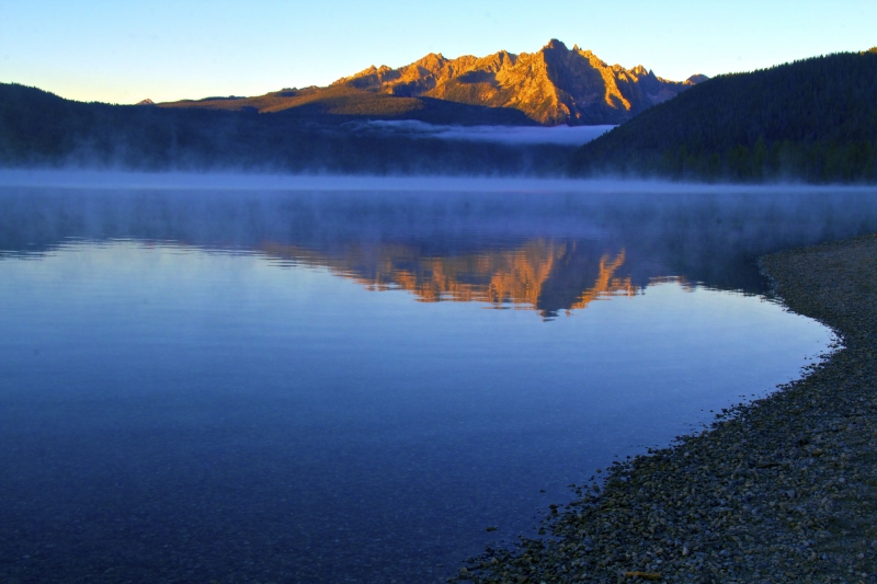 Blue Dawn Over Redfish Lake