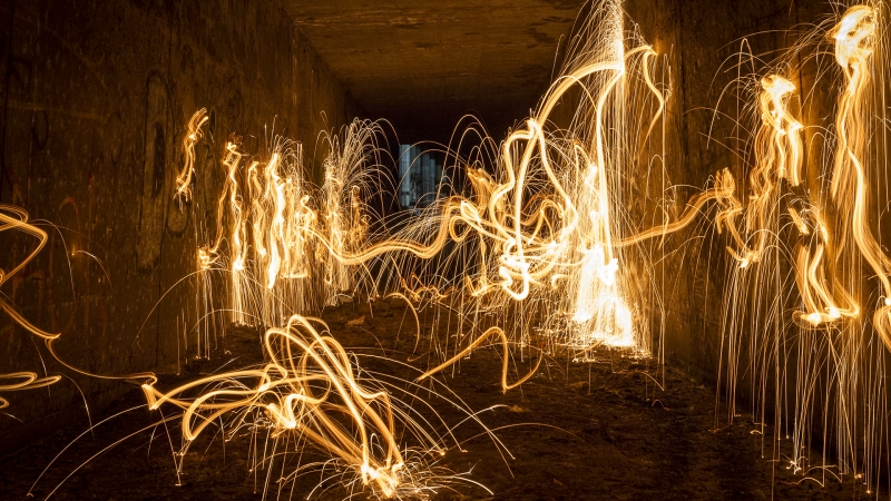 Caveman Fire Painting