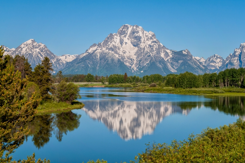 Mount Moran On Oxbow Bend – Grand Teton National Park, Wyoming