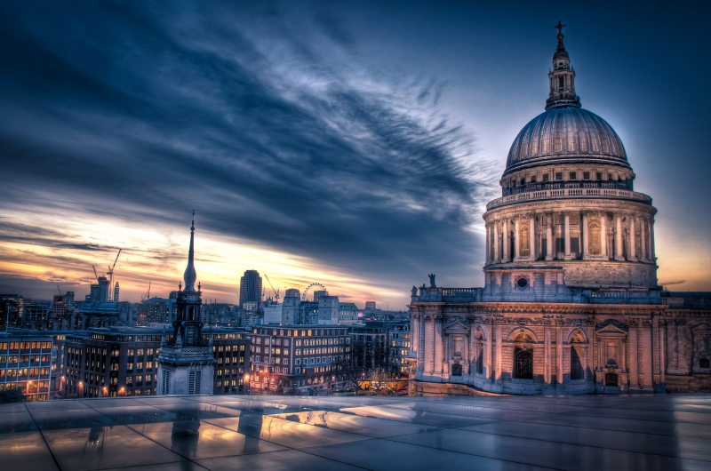Sunset Over St. Paul's Cathedral