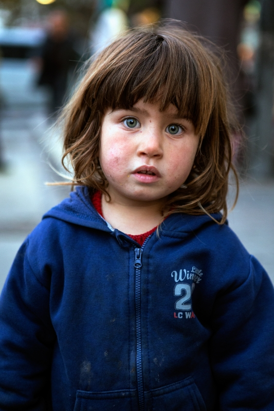 A Syrian Immigrant In Istanbul Streets