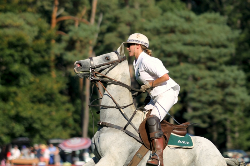 Action At The Ferrari Cup Polo Match #1