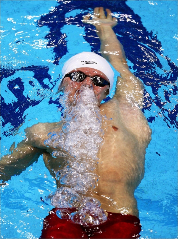 Swimmer Breaths Out