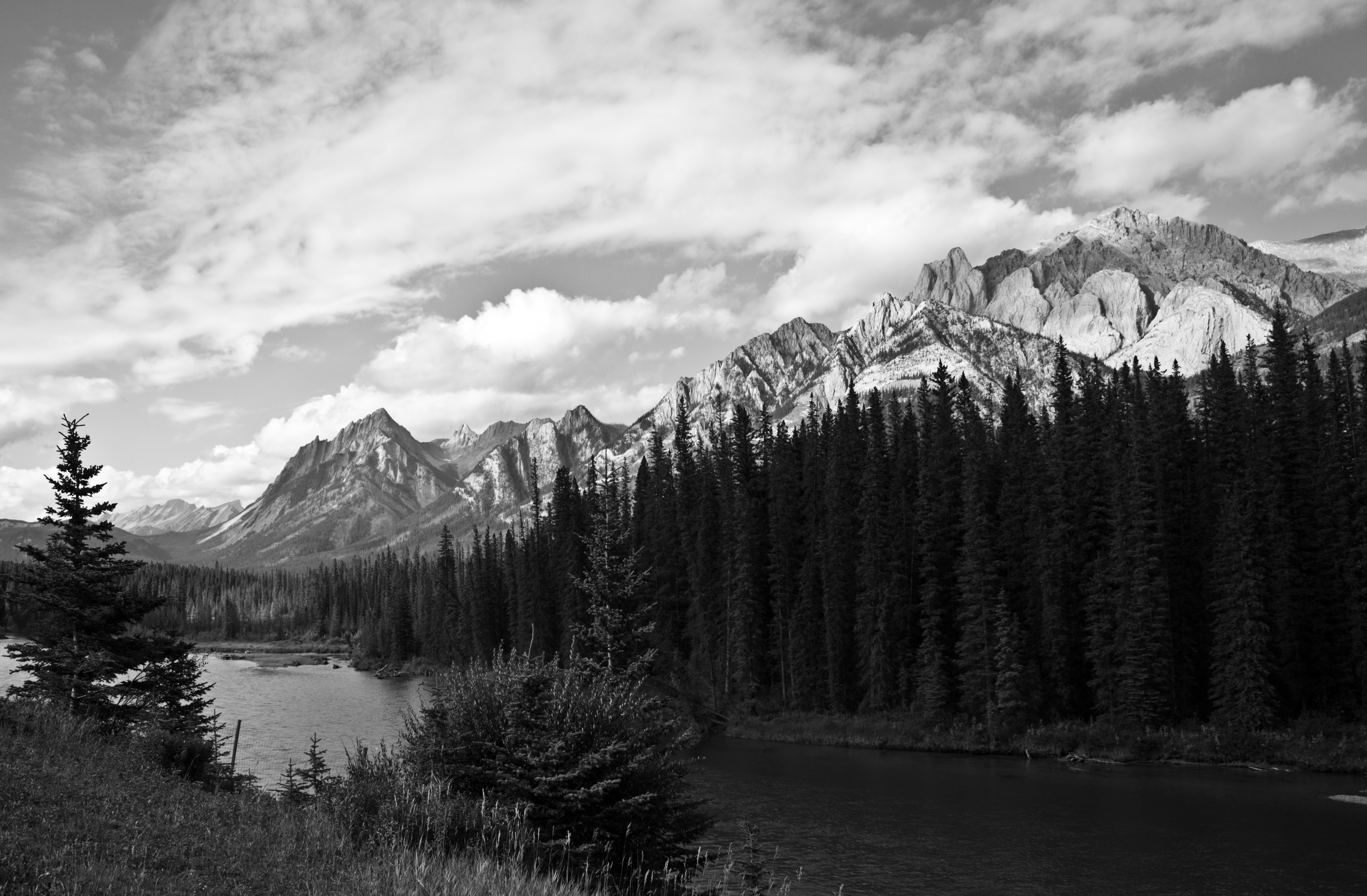 Canadian Rockies B&W