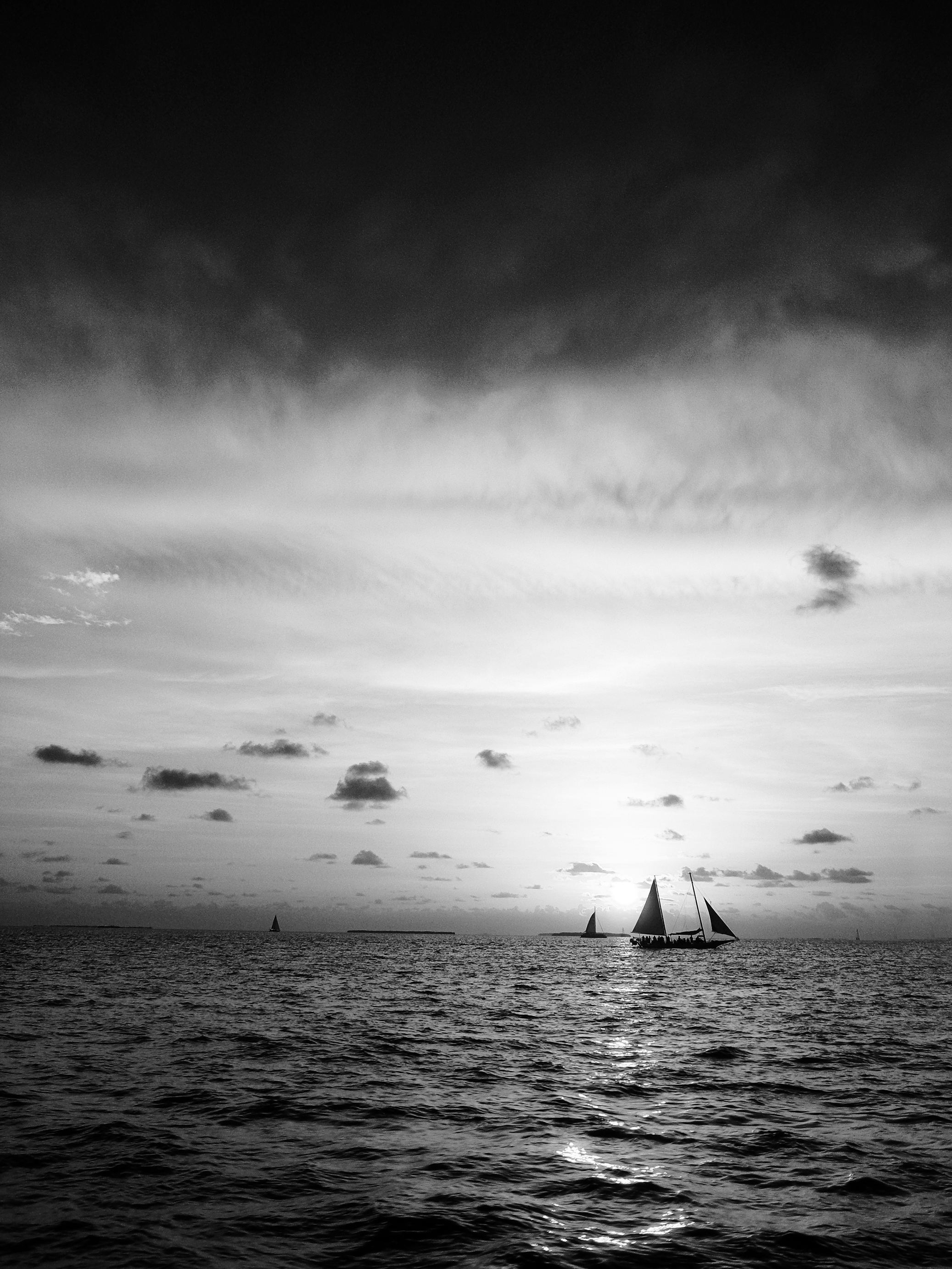 Key West Sunset in Black and White