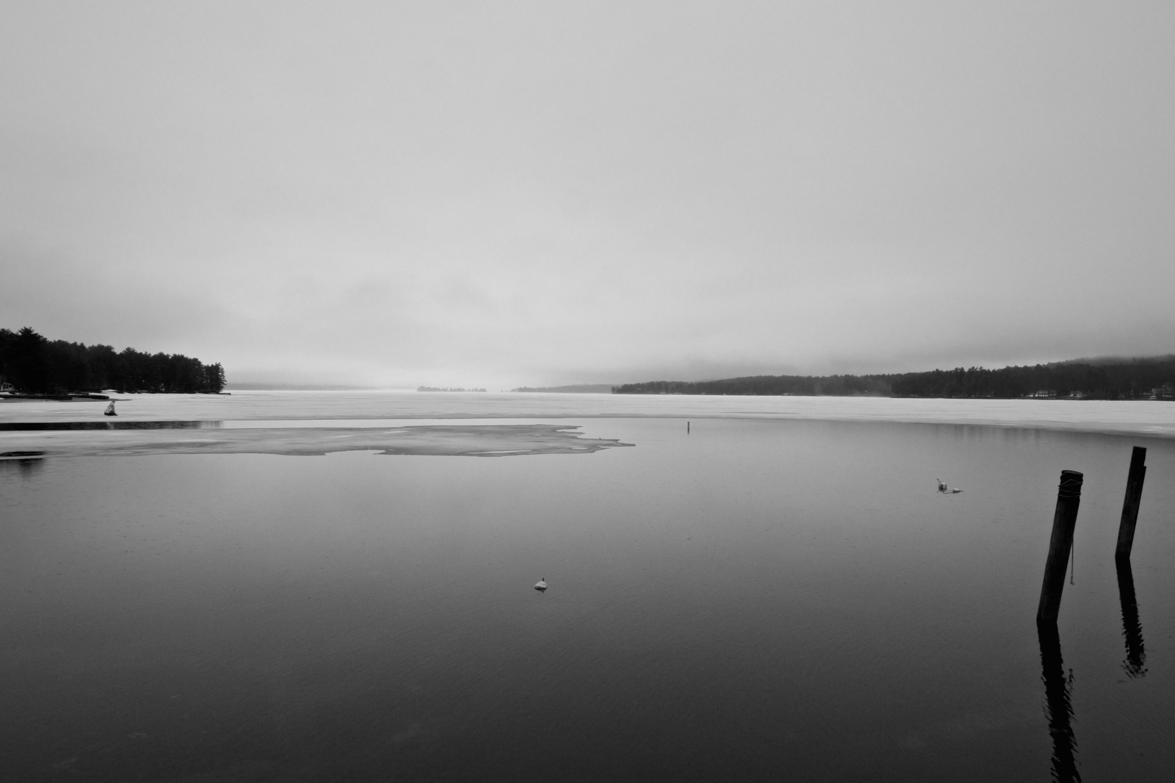 Long Lake, Naples, Maine—ice out