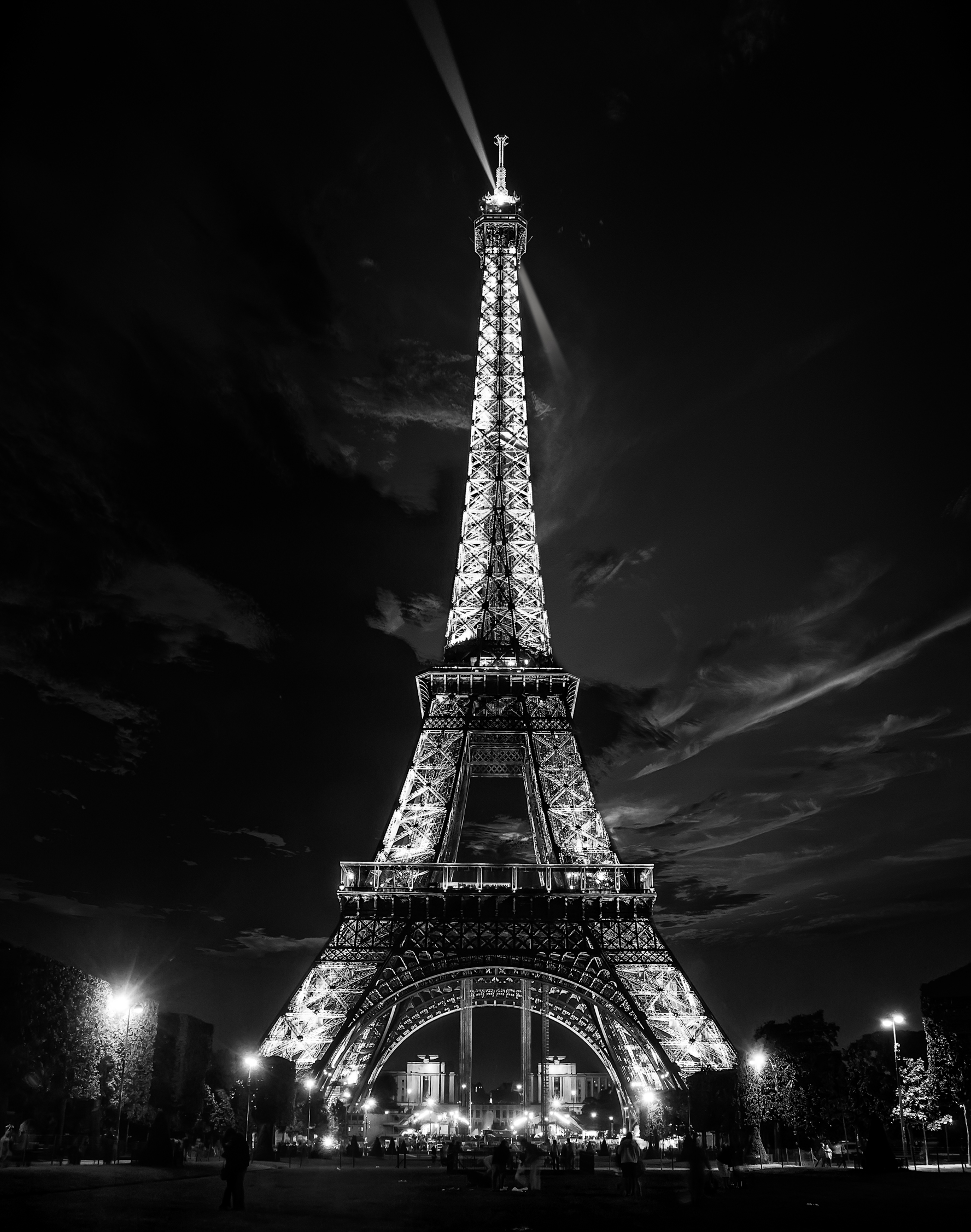 Eiffel with Clouds