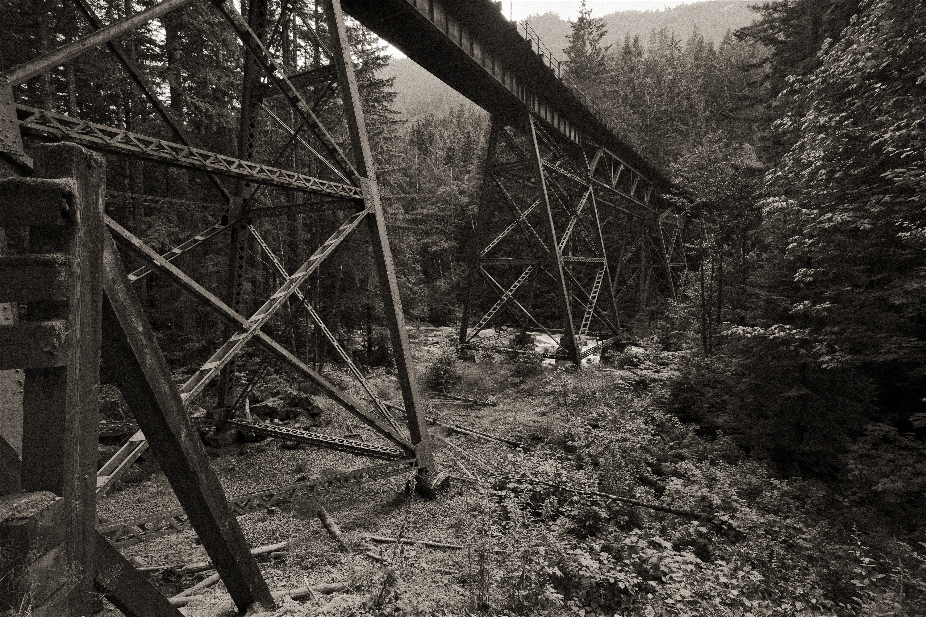 Foss River railroad bridge