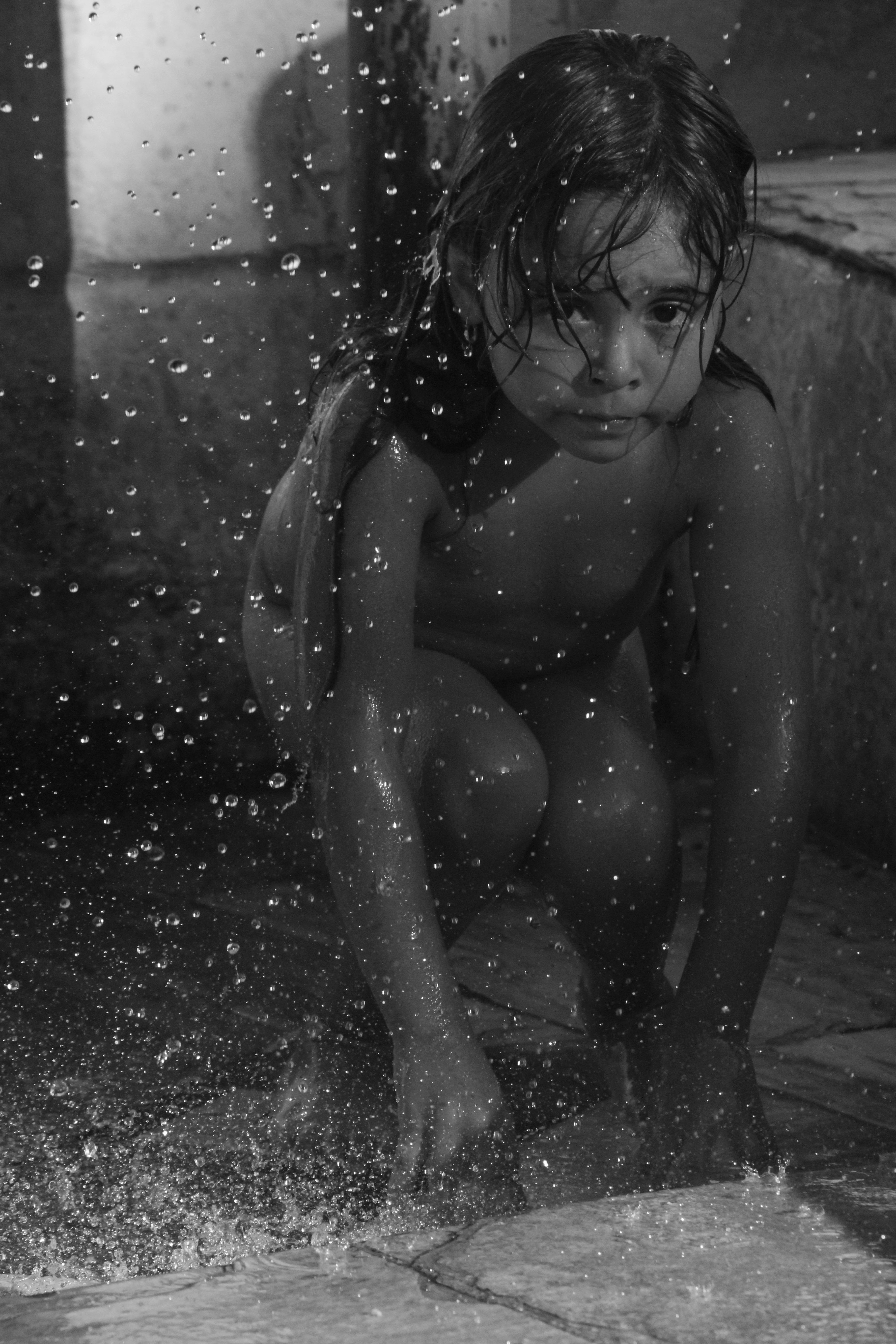 The girl and the drops