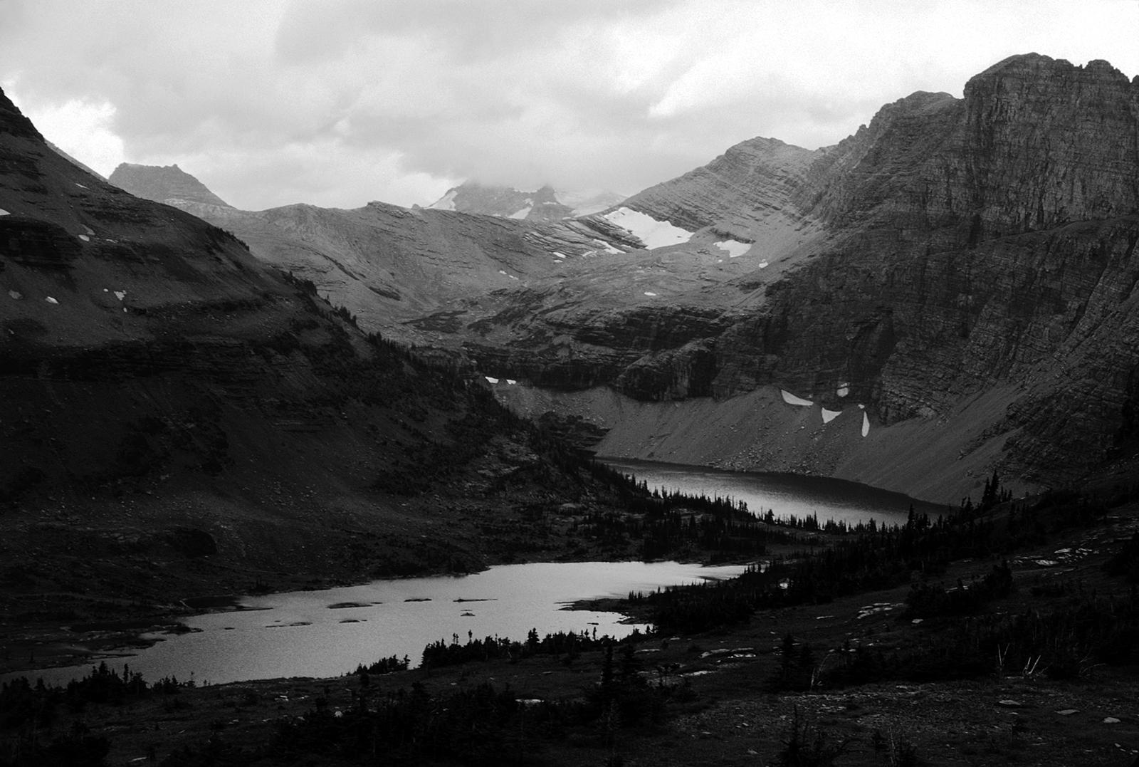 Mountaintop Lake-B+W