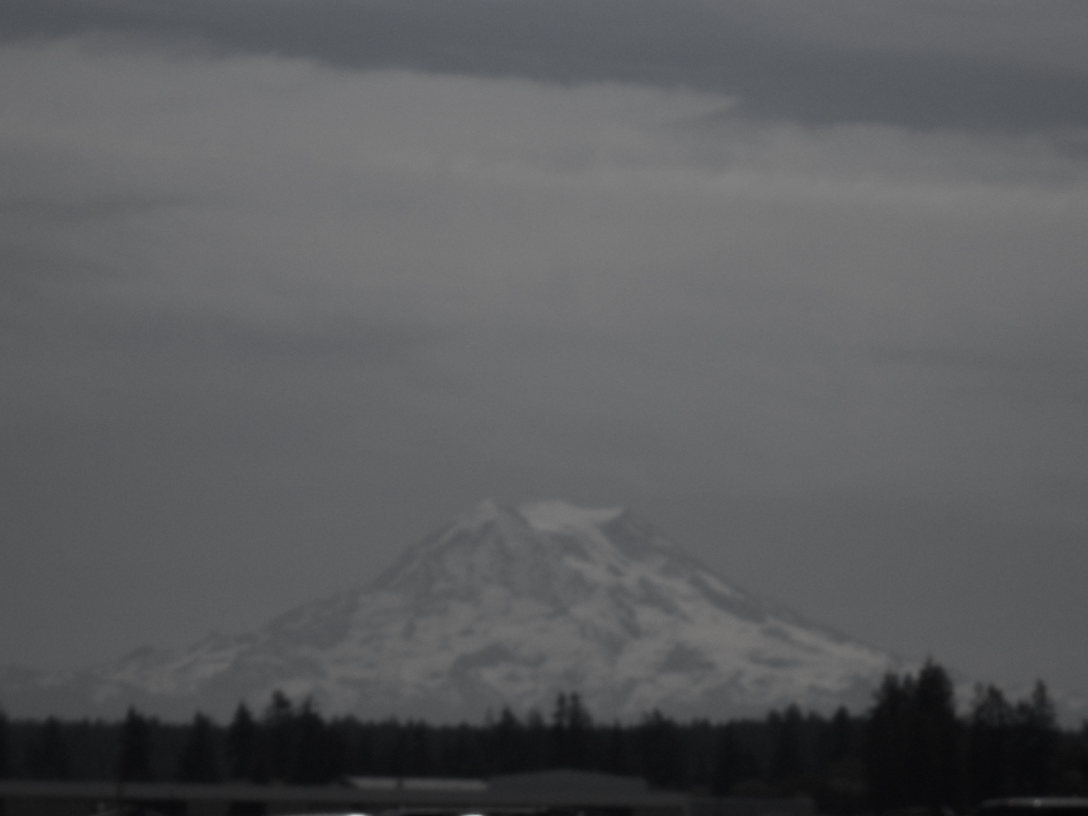 View of Mt. Rainier from Ft. Lewis Washington