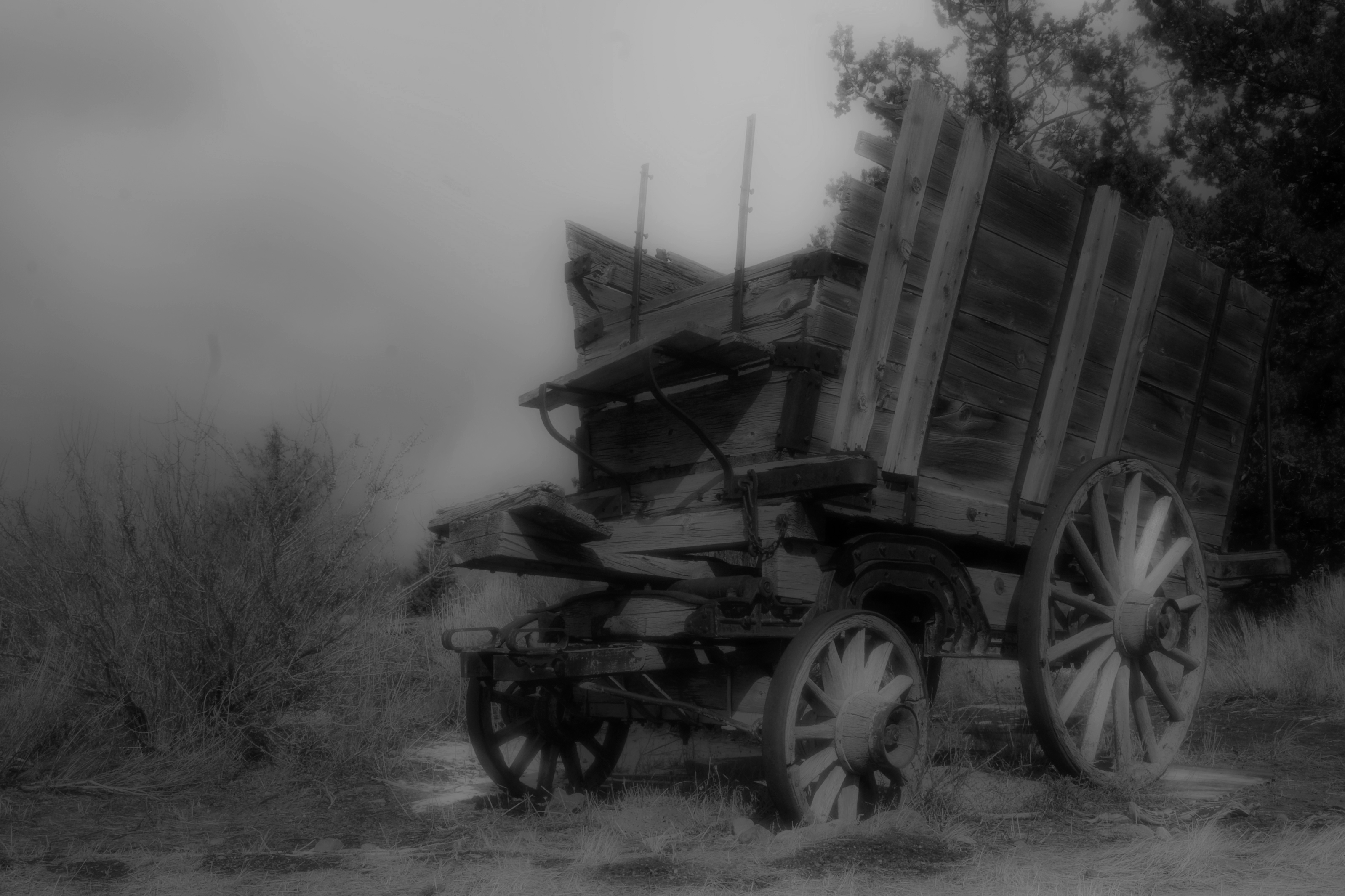 Old Mill Wagon 1a bw