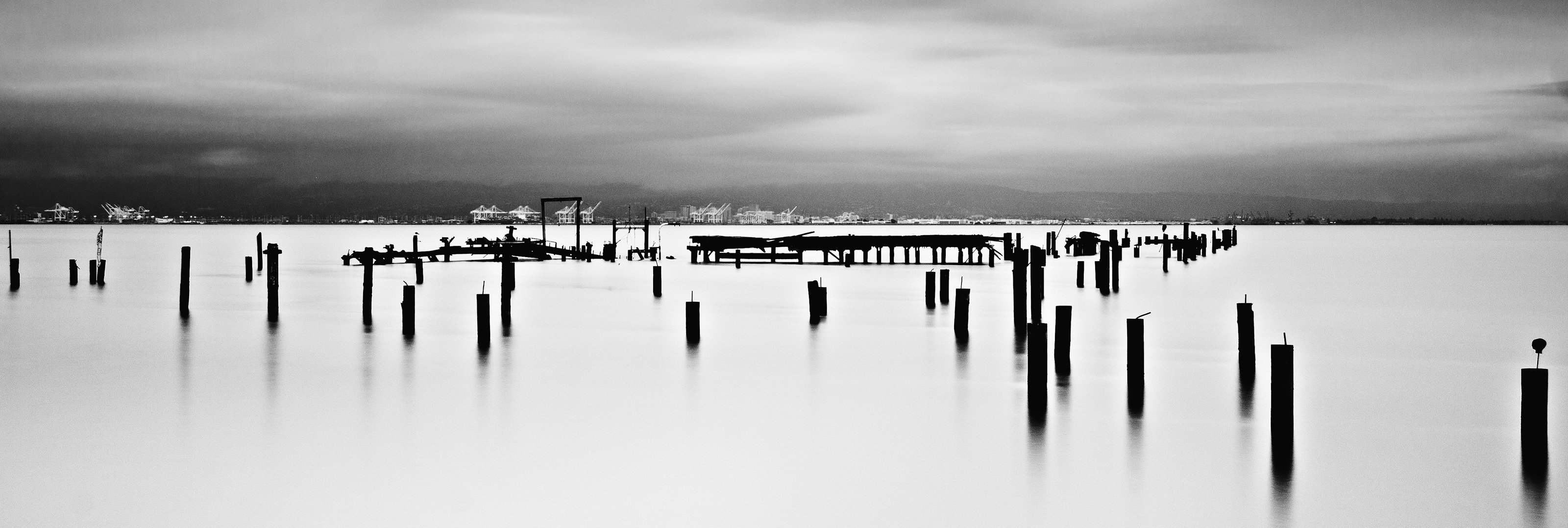 San Francisco Bay Broken Pier