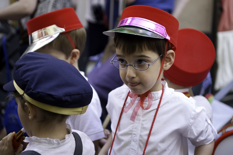 A Small Boy In A Church Parade In Seville Spain