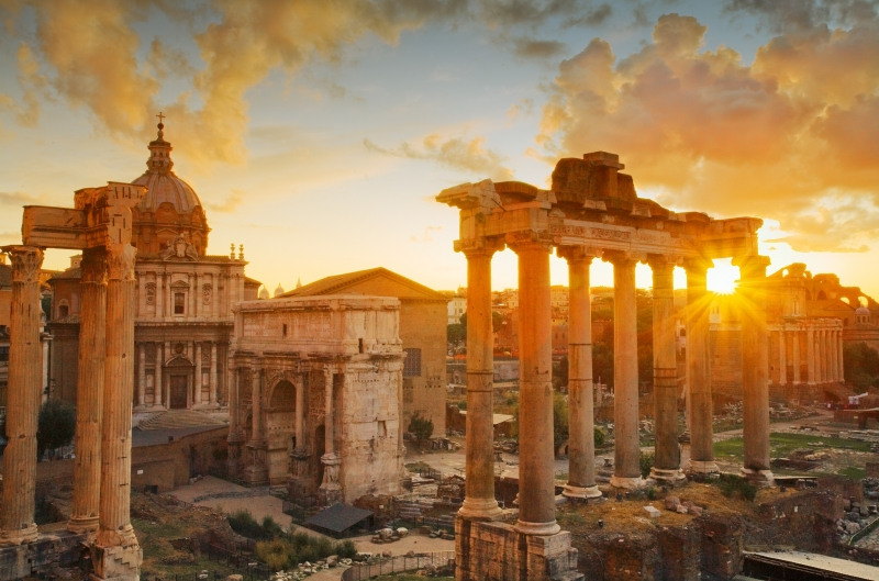 Ancient Forum Sunrise