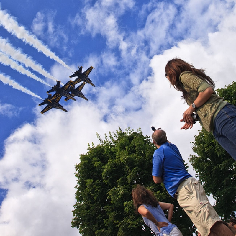 Blue Angel Spectators