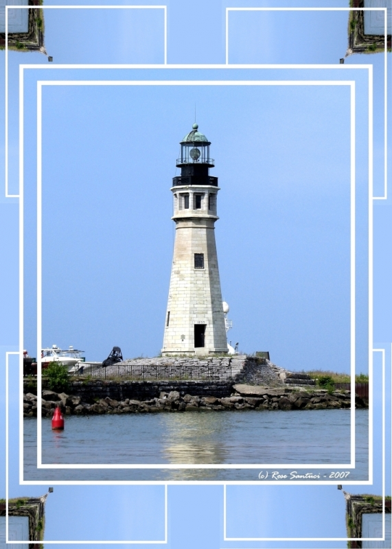 Buffalo Main Lighthouse Framed In A Digital Warp Of Itself