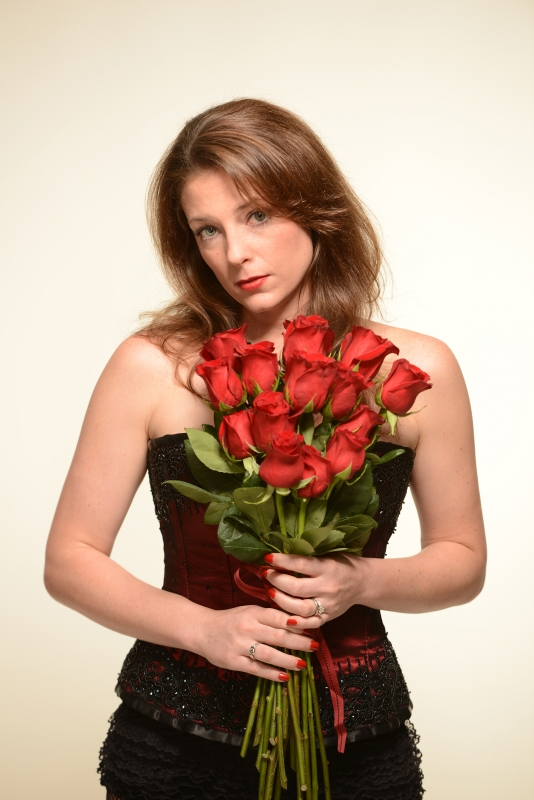 Lilly With Roses