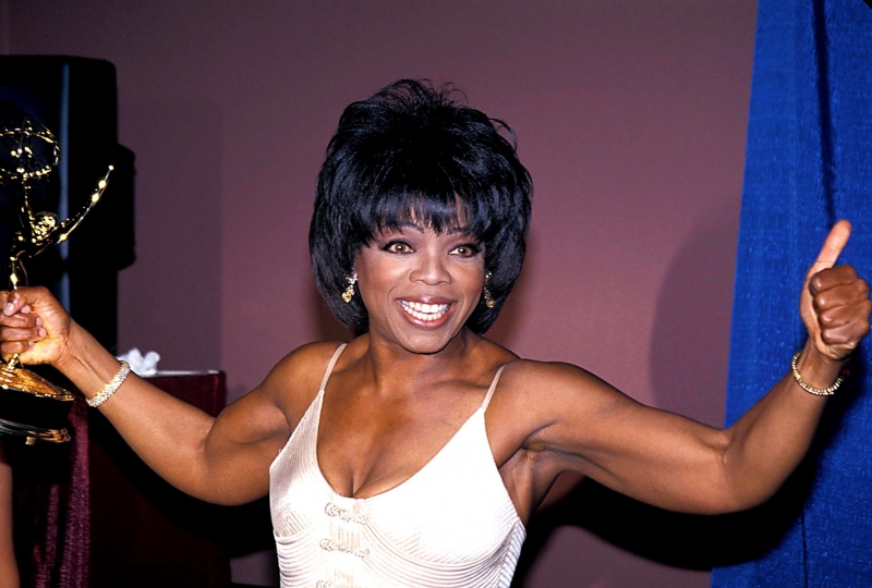 Oprah Wins Emmy 1994 Jonathan L Green Celebrity Photography Usa