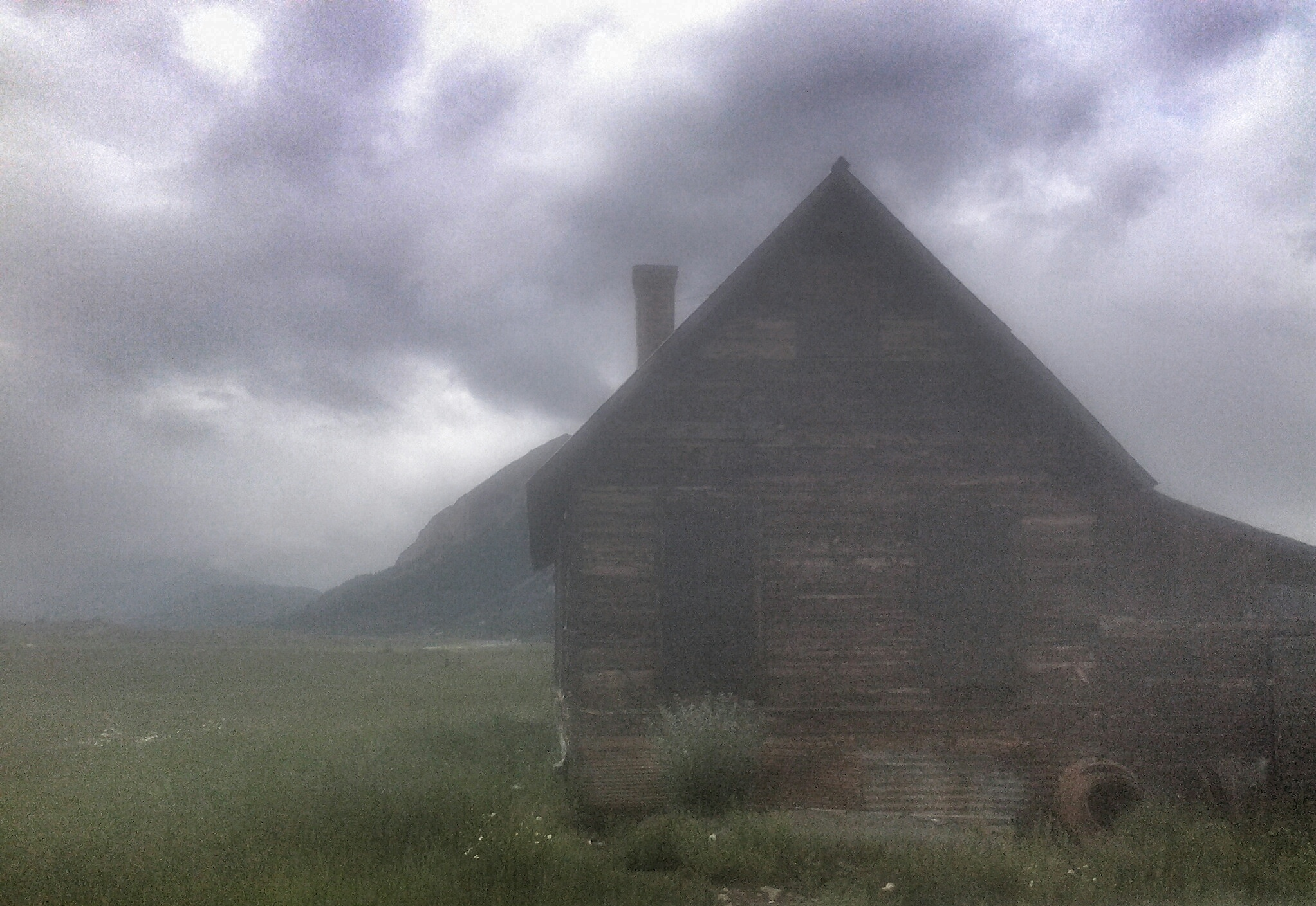 Abandoned Cabin Through the Mists of Time