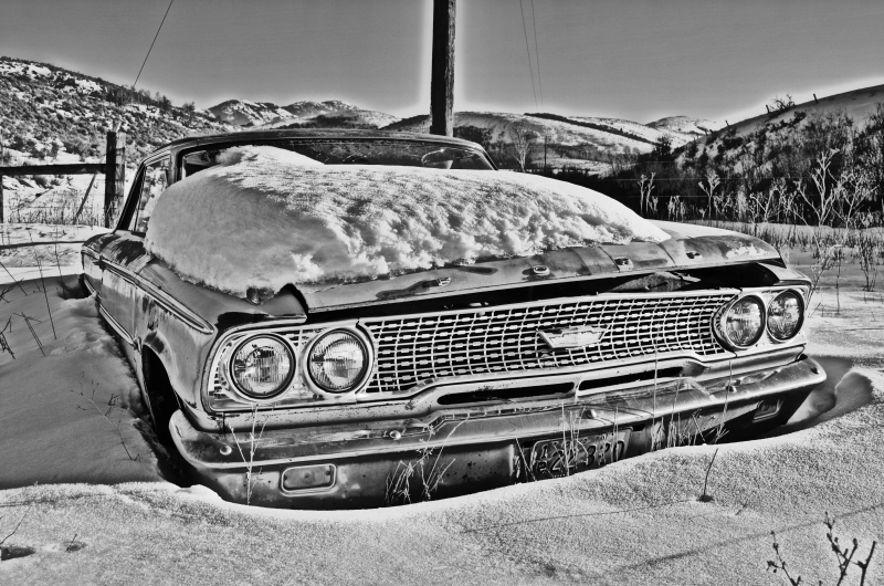 Snow Covered Ford
