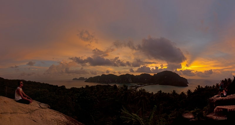 Sun Set At Koh Phi Phi